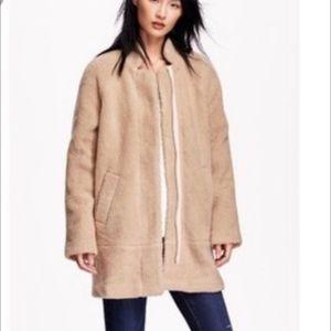 Old Navy Teddy Bear Sherpa Coat Tan Size XL